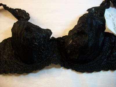 WOMEN INGENUE BY SPIRI BLACK LACE UNDERWIRE BRA 34B NWT