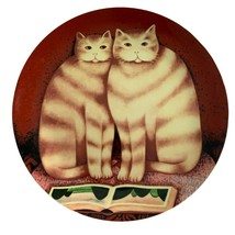"Dept 56 Martin Leman Francesca Gordon Cat Book Plate Folkart 9.25"" Decor... - $21.78"