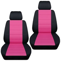 Front set car seat covers fits Chevy Spark  2013-2020   black and hot pink - $67.89+