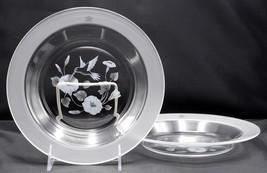 "Avon Hummingbird * 2 RIMMED SOUP BOWLS * 8.5"", 24% Lead Crystal, France,... - $11.99"