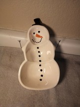 VON MAUR  SNOWMAN  CANDY DISH---CHRISTMAS--FREE SHIP--NEW - $20.87