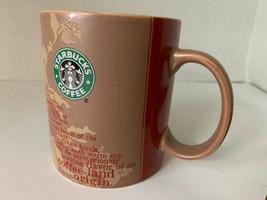 Starbucks Coffee / Tea Mug Cup 14 oz Africa & SE Asia Maps Poem 2006 - $12.75