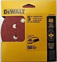 """DeWALT DWAS58040C 40 Grit 5"""" Disc Sandpaper 5 Or 8 Hole Hook & Loop 50-Pack - $9.90"""