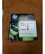 GENUINE 3-Pack HP 711 Magenta Ink Cartridges CZ135A Exp 06/2021 - NEW - $63.00