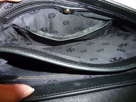 NWT Tory Burch Black Robinson Saffiano Combo Messenger Bag $450 image 10