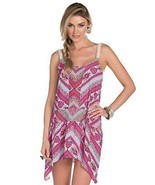 Becca by Rebecca Virtue Secret Garden Tank Dress Swim Cover Up NWT Small... - $19.70