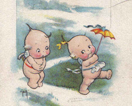 Vintage Rose ONeill Valentine's Day Postcard - Kewpies with