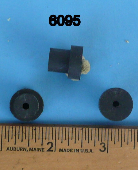 Pack Of 7 Black Rubber Stem Bumpers 5/8 Inch High 6095