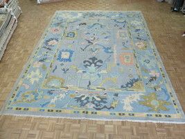 11'10 x 15'5 Hand Knotted Colorful Gray Turkish Oushak Oriental Rug G11370 - $4,388.86