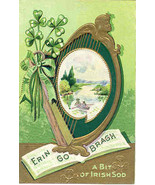 Erin Go Bragh A Bit of Irish Sod vintage Post Card - $7.00