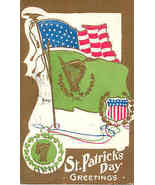 A St Patrick Day Greeting vintage 1924 Post Card - $7.00