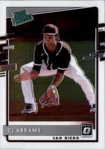 CJ Abrams 2020 Donruss Optic Rated Prospect Card #RP-17 - $2.00