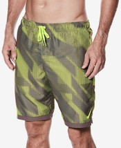 "Nike Men's Printed 11"" Volley Shorts Swim Trunks, Volt, M $58 - $30.59"