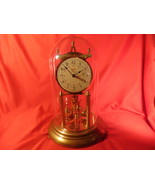 Kundo, 400 Day, Anniversary, Glass Domed Clock. Repair or Parts. Made in... - $39.99