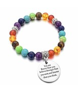 DYJELWD 7 Chakra Beads Bracelet for Girls Inspiration Jewelry You are Br... - $14.09