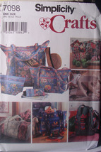 Pattern 7098 Many Quilted Bags and Eyeglass Case - $5.00