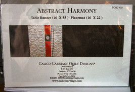 "Quilt Pattern ""Abstract Harmony"" Table Runner 16"" x 55"" & Placemats 16"" ... - $5.99"