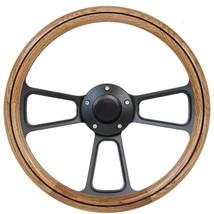 1949 -1957 Ford F-Series Pick Up Truck Oak & Billet Steering Wheel, Horn - $170.99