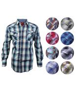 Rodeo Clothing Men's Premium Western Cowboy Pearl Snap Long Sleeve Plaid... - $23.76