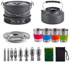 Gonex 11pcs/13pcs/16pcs/21pcs Camping Cookware Set Mess Kit, Backpacking... - $87.00