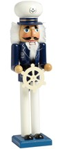 "New Wooden Christmas Nutcracker, 15"", NAUTICAL, SEA CAPTAIN - $24.74"