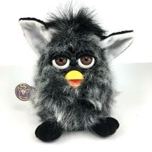 1999 Original Furby Mink Black Gray Shag Fur Tiger Electronics 70-800 wi... - $29.90