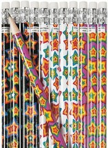 Neon Stars Pencils  (24 Pack) Wood.  - $8.54
