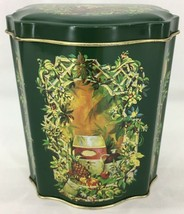 Vintage Avon Collectible Christmas Tin Canister Tea Caddy 1981 Made in England - $11.26