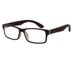 EBE Reading Glasses Mens Womens Rectangular Brown Acetate Front Wooden S... - $20.80+