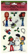 ME+MY BIG IDEAS 3pc STICKER SHEETS Stockings+Gift Box+Snowman CHRISTMAS ... - $2.99