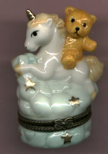 UNICORN & TEDDY BEAR HINGED BOX