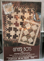 "Pattern Wall Quilts & Stitchery ""Ginger Boys""  - $6.99"