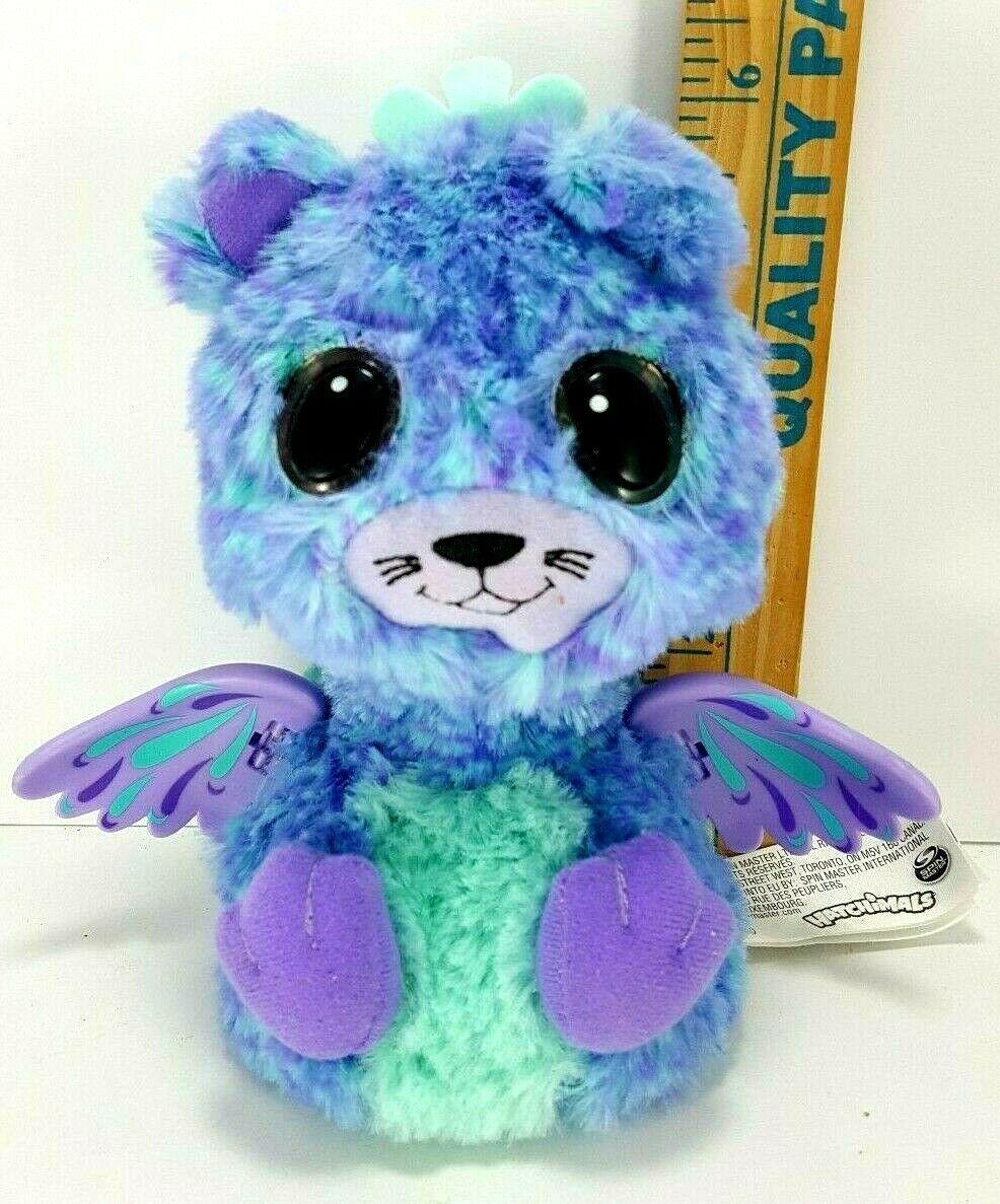 Hatchimal Surprise Peacat Blue Purple Teal Wings Working Light up eyes Used