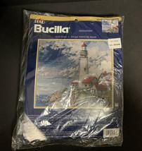 Bucilla Plaid Needlepoint Kit 4827 Lighthouse Nancy Rossi Sealed Petit P... - $28.04