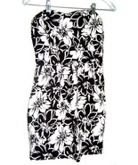 Sz M -  Poetry Clothing Black & White Floral Strapless Sundress Dress - $18.99