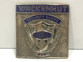 Vintage Wackenhut Security Enameled Metal Badge - $49.99