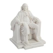 PTC 7.5 Inch White Benjamin Franklin Figurine Statue in Chair Knickknack - $35.63