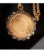 Vintage Coin Necklace - 1959 Alaska state seal - Coin jewelry - unisex j... - $125.00
