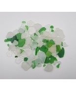 Bulk Authentic White Green Frosted Lake Michigan Vintage Beach Sea Glass... - $12.86
