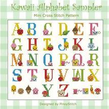 Kawaii Cute Alphabet Sampler cross stitch chart Pinoy Stitch - $10.80