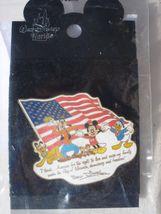 Mickey Goofy Pluto Donald Chip Dale 2002 Pin Disney Gang USA I Thank Ame... - $15.51
