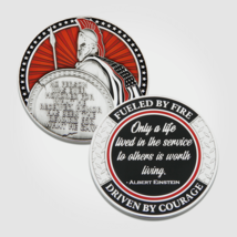 """FULED BY FIRE DRIVEN BY COURAGE 1.75"""" CHALLENGE COIN - $18.04"""