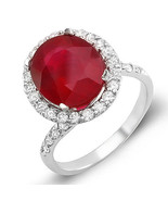 Estate ring 6.5 ct natural ruby and diamond 14k gold - $1,875.00