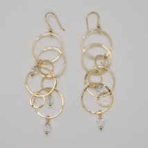 925 STERLING SILVER GOLD PL PENDANT EARRINGS WITH CIRCLES BY MARIA IELPO ITALY image 1