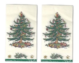 Spode Christmas Tree Paper Napkins Guest Towels Dinner Buffet 2 packs of 16 - $20.38