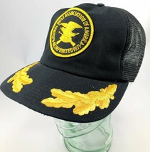 Vintage NRA Snapback Hat Cap National Rifle Association Trucker Black Me... - $16.69