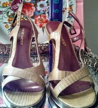 Nine West faux alligator heels back strap sandals US size 7M - $20.00