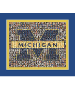 University of Michigan Mosaic Print Art Created Using Past and Present P... - $25.00