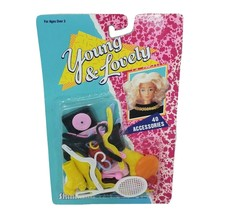 VINTAGE 1989 SHILLMAN YOUNG & LOVELY 40 FASHION DOLL ACCESSORIES IN PACKAGE - $23.38