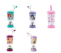 Disney Store Snowglobe Tumbler with Straw Jasmine Ariel Tinker Bell Rapu... - $34.95